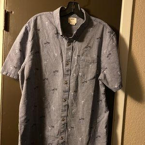 Vans Palm Tree Print Shirt Size Mens Short Sleeve